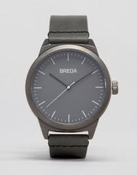 Серые часы с кожаным ремешком Breda Rand - Серый