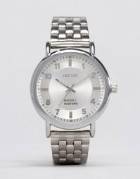 Серебристые часы-браслет Breda Blossom - Серебряный