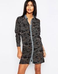 Платье-рубашка с камуфляжным принтом Pepe Jean Ilford - 0 разноцветный