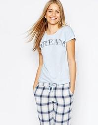 Пижамный топ Vero Moda Dream - Кашемировый синий