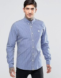 Голубая рубашка в клеточку Pretty Green - Темно-синий