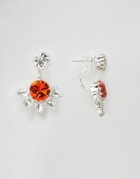 Серьги-подвески с шипами из кристаллов Swarovski от Krystal