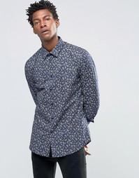 Рубашка слим с принтом Devils Advocate - Мульти