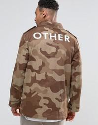 Куртка с камуфляжным принтом и карманами Other UK - Камуфляжный