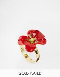 Кольцо с цветком Les Nereides - Красный