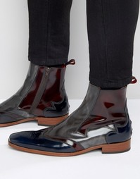 Кожаные ботинки на молнии Jeffery West Scarface - Серый