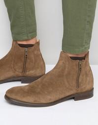 Замшевые ботинки на молнии Hudson London Mitchell - Рыжий