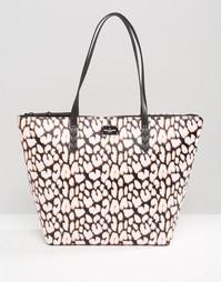 Сумка-шоппер с неоновым леопардовым принтом Pauls Boutique