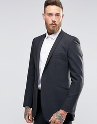 Фланелевый пиджак слим Hart Hollywood by Nick Hart - Угольный