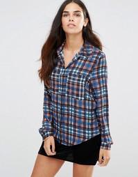 Рубашка с принтом тартан TFNC - Синий