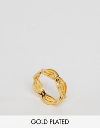 Кольцо с отделкой волнами Gorjana Mesa - Золотой
