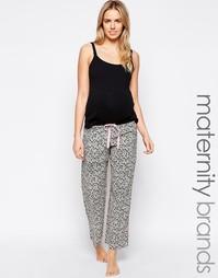 Винтажные пижамные брюки для беременных с цветочным принтом Hotmilk