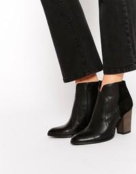 Черные кожаные ботинки на каблуке Dune Pollo - Черный
