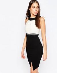 Платье‑футляр с контрастным топом Vesper Julietta - Слоновая кость