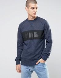 Синий свитшот с круглым вырезом Nike Legacy 807489-473 - Синий