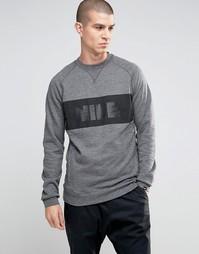 Серый свитшот с круглым вырезом Nike Legacy 807489-071 - Серый