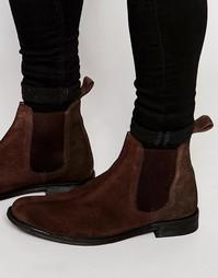 Ботинки челси из коричневой замши Lambretta - Коричневый