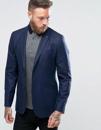 Ted Baker Regular Wool Blazer - Темно-синий