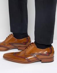 Светло-коричневые кожаные броги Jeffery West Lille - Рыжий