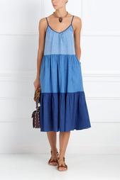 Платье из хлопка и льна Sunset MiH Jeans
