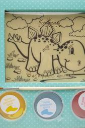 Шоколадная раскраска «Динозаврик» Конфаэль