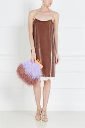 Бархатное платье-комбинация Esve