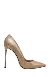 Золотистые Кожаные туфли Le Silla