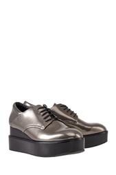 Ботинки из металлизированной кожи Madness ASH