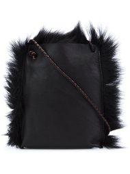 shearling cross-body bag  B May