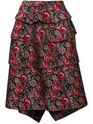 жаккардовая юбка с цветочным узором  Comme Des Garçons