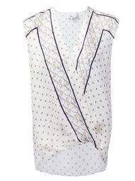 блузка с принтом и V-образным вырезом  3.1 Phillip Lim