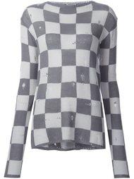 свитер в клетку Marc Jacobs