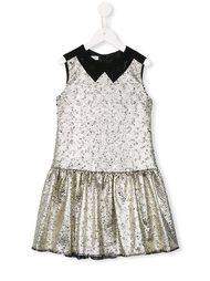 платье с металлическим отблеском  I Pinco Pallino