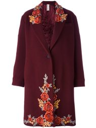 однобортное пальто с вышивкой Antonio Marras