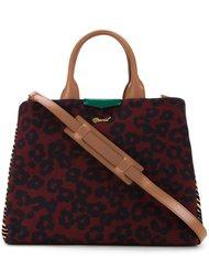 сумка-тоут с леопардовым принтом Muveil