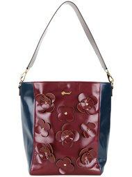 сумка на плечо с цветочной аппликацией Muveil