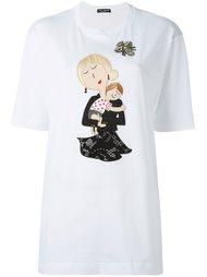 футболка с аппликацией Dolce & Gabbana