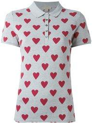 рубашка-поло с узором в виде сердец Burberry