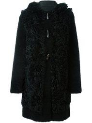 пальто с капюшоном на пуговицах Blancha