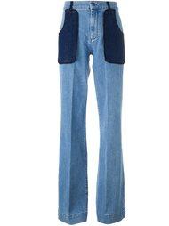 расклешенные джинсы с завышенной талией Victoria Victoria Beckham