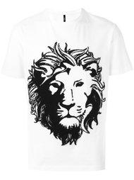 футболка с принтом головы льва Versus
