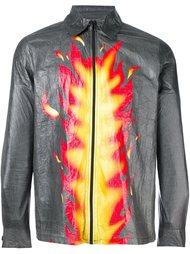 куртка с принтом пламени Walter Van Beirendonck Vintage