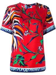 футболка с цветочным принтом   Emilio Pucci