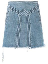 джинсовая юбка с панельным дизайном Chloé
