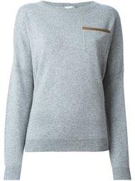 свитер с нагрудным карманом  Agnona