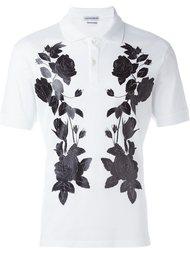 футболка-поло с принтом роз Alexander McQueen