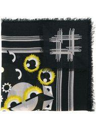 шарф с принтом 'Fendi monster' Fendi