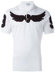 футболка-поло с принтом крыльев Alexander McQueen