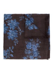 frayed edge floral scarf Stella McCartney