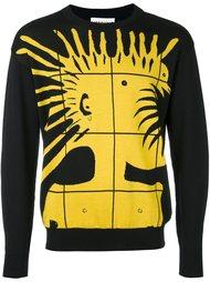 свитер с принтом панка  Moschino
